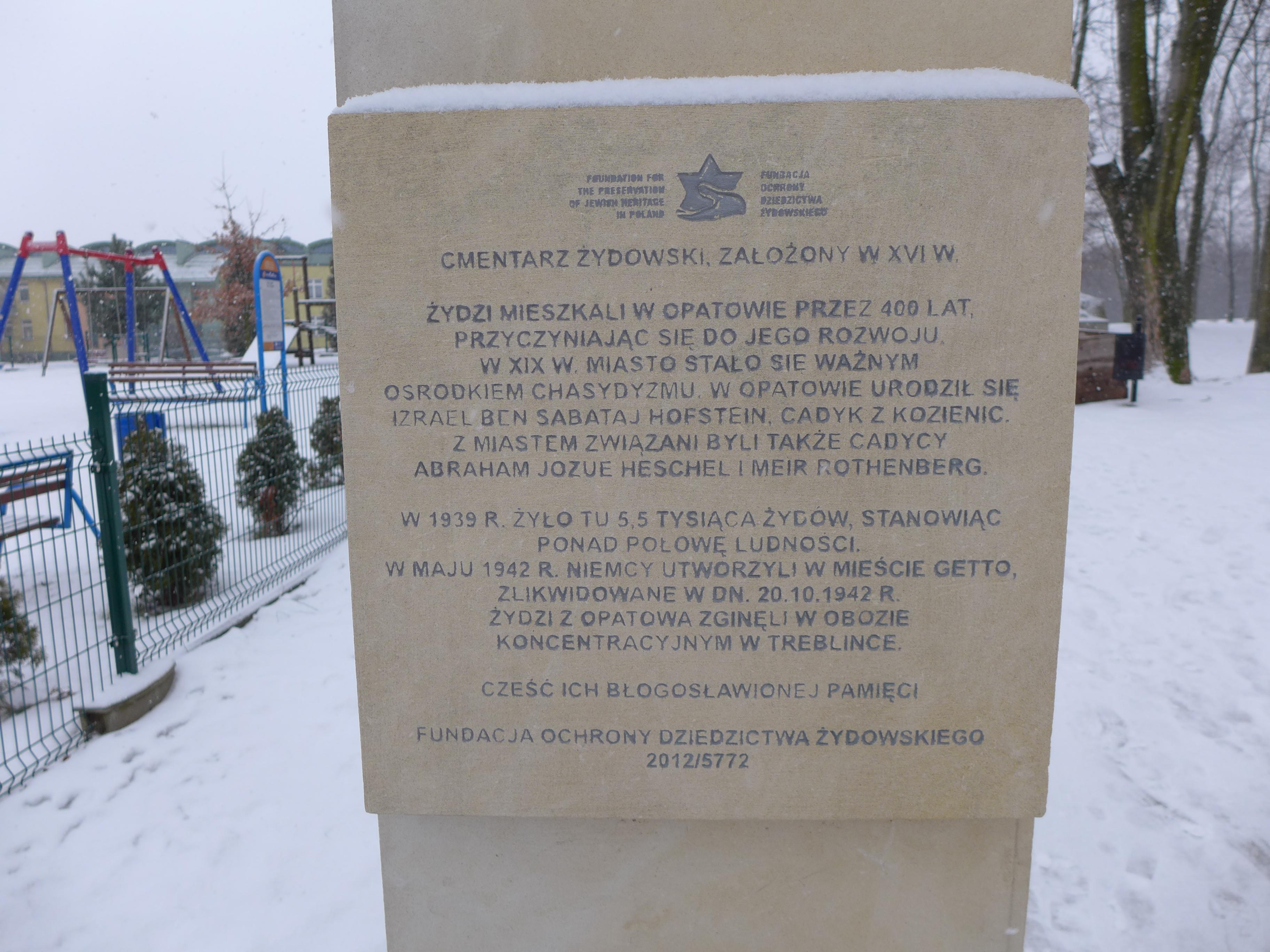 zwiedzanie opatowa - informacja o Cmentarzu Żydowskim